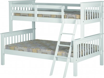Neptune white triple sleeper bunk bed
