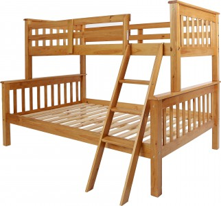 Neptune antique pine triple sleeper bunk bed