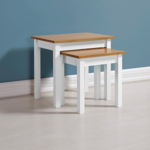 Ludlow white and oak nest of tables