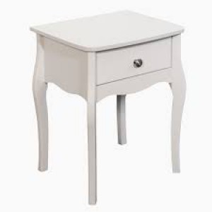 Elegance side table in white grey or black