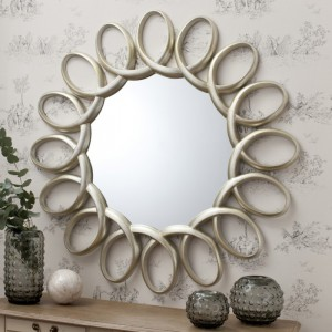 Auckley round mirror champagne