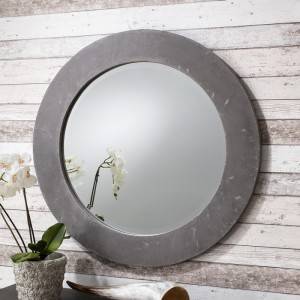Chilson round mirror grey