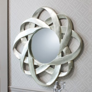 Constellation round mirror champagne