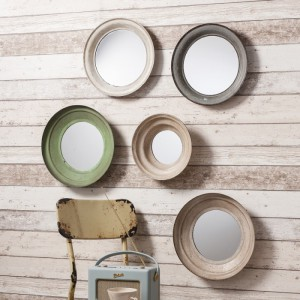 Crosby Set of five round mirrors