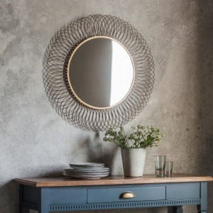 Gallico round mirror bronze