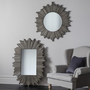 Kilarra round mirror grey
