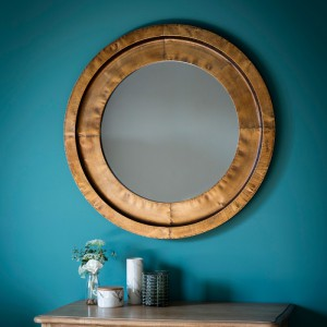 Moorley round mirror copper