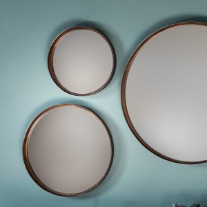 Reading round mirror small