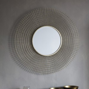 Stafford round mirror gold