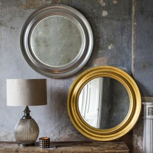Trevose round mirror gold or silver