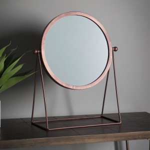 Webber round table top mirror