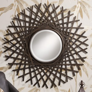 Zepher round mirror