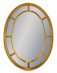 Multi mirror oval gold