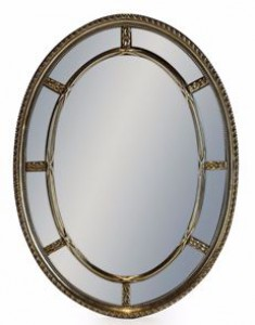 Multi mirror oval silver