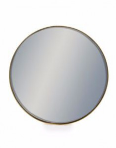 Arden medium round gold mirror