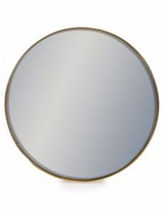 Arden small round gold mirror