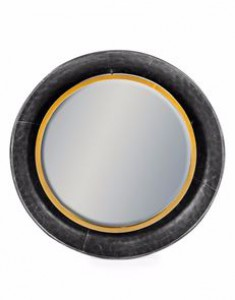 Lincoln medium round black & bronze mirror