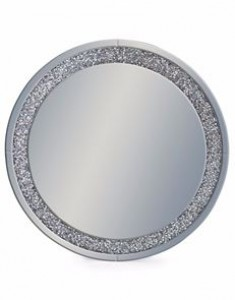 Venetian diamond edge round mirror