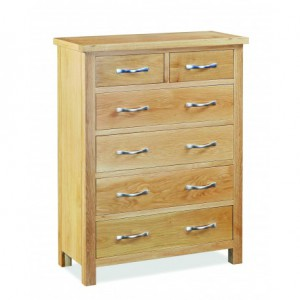 Tuscan oak 2 over 4 drawer chest