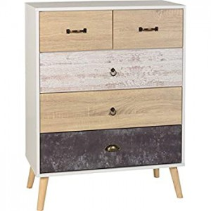 Nordic 2 over 3 chest of drawers
