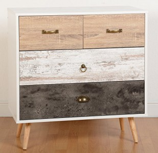 Nordic 2 over 2 chest of drawers