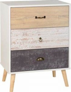 Nordic 3 drawer chest of drawers