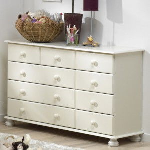 Richmond white 2+3+4 chest of drawers