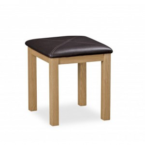 Erne oak dressing table stool