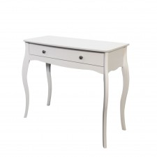 Elegance white one drawer dressing table