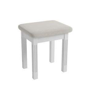 Antique white dressing table stool