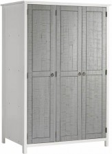 Venice grey and white 3 door wardrobe