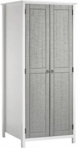 Venice grey and white 2 door wardrobe