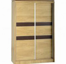 Carlos light oak 2 door sliding wardrobe not Sliderobe