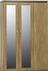 Carlos light oak 3 door all hanging wardrobe