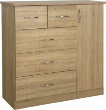 Neptune light oak chest of drawers wardrobe