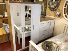 Conrad white gloss 3 door wardrobe