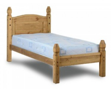 Corona Mexican pine solid single bed low foot