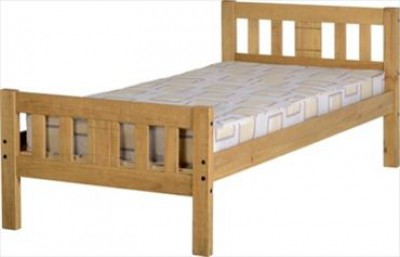 Rio pine solid single bed