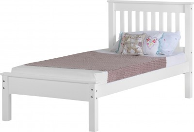 Neptune white low foot single bed