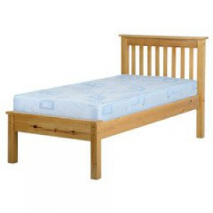 Neptune antique pine low foot single bed