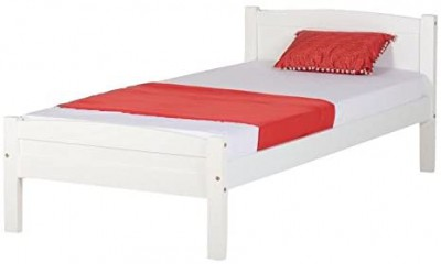Amber white single bed