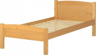 Amber antique pine single bed