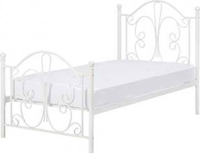 Annabel silver or white single bed