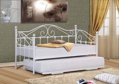 White metal day bed with crystals