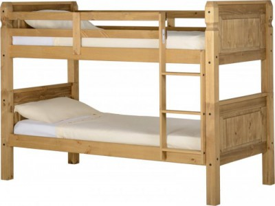 Corona distressed waxed pine solid bunk beds