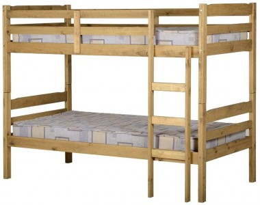 Panama waxed pine bunk beds