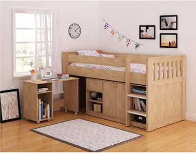 Merlin study bunk single bed