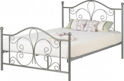 Annabel white or silver 4ft6 double bed