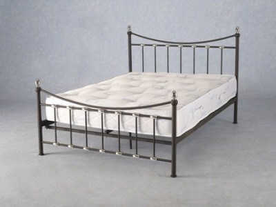 Dunbar black and chrome 4ft6 double bed