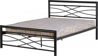 Kelly black 4ft6 double bed